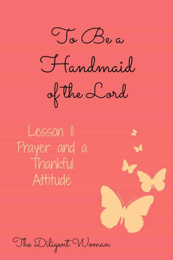 Prayer and a Thankful Attitude