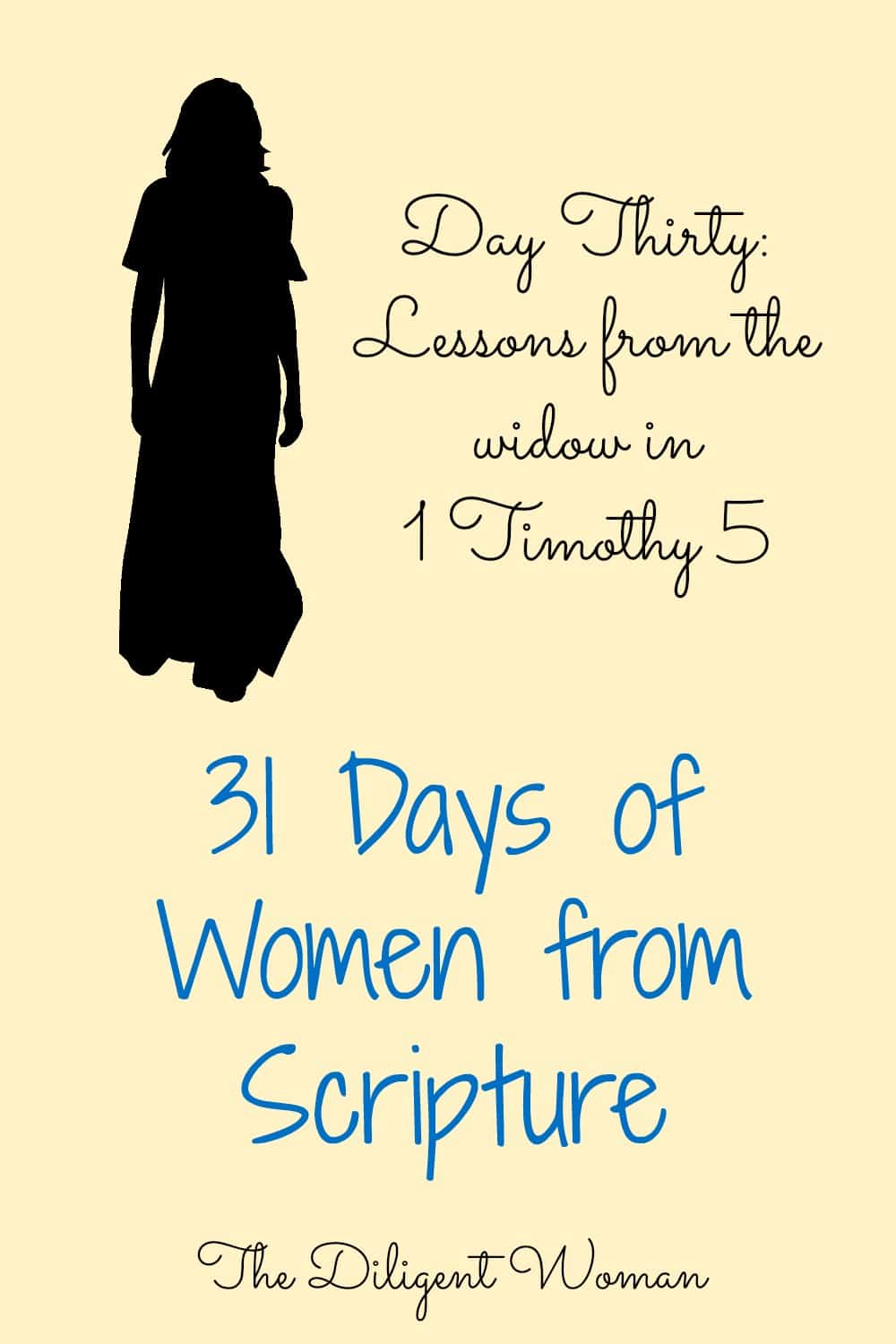 Lessons from the Widow in 1 Timothy 5