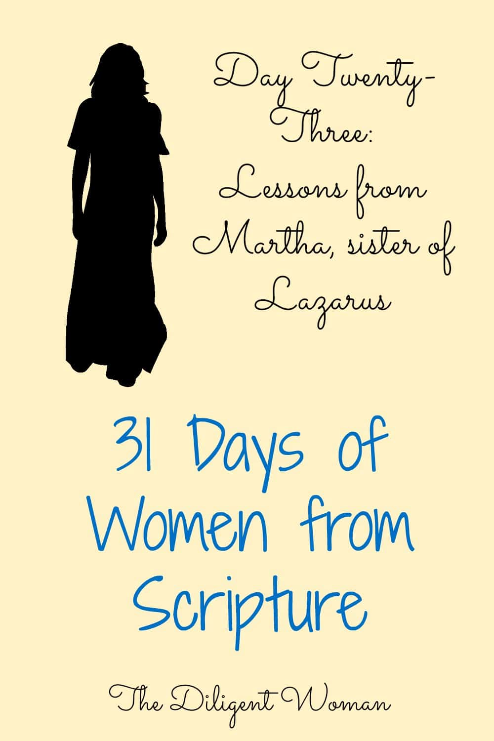 Lessons from Martha, the sister of Lazarus