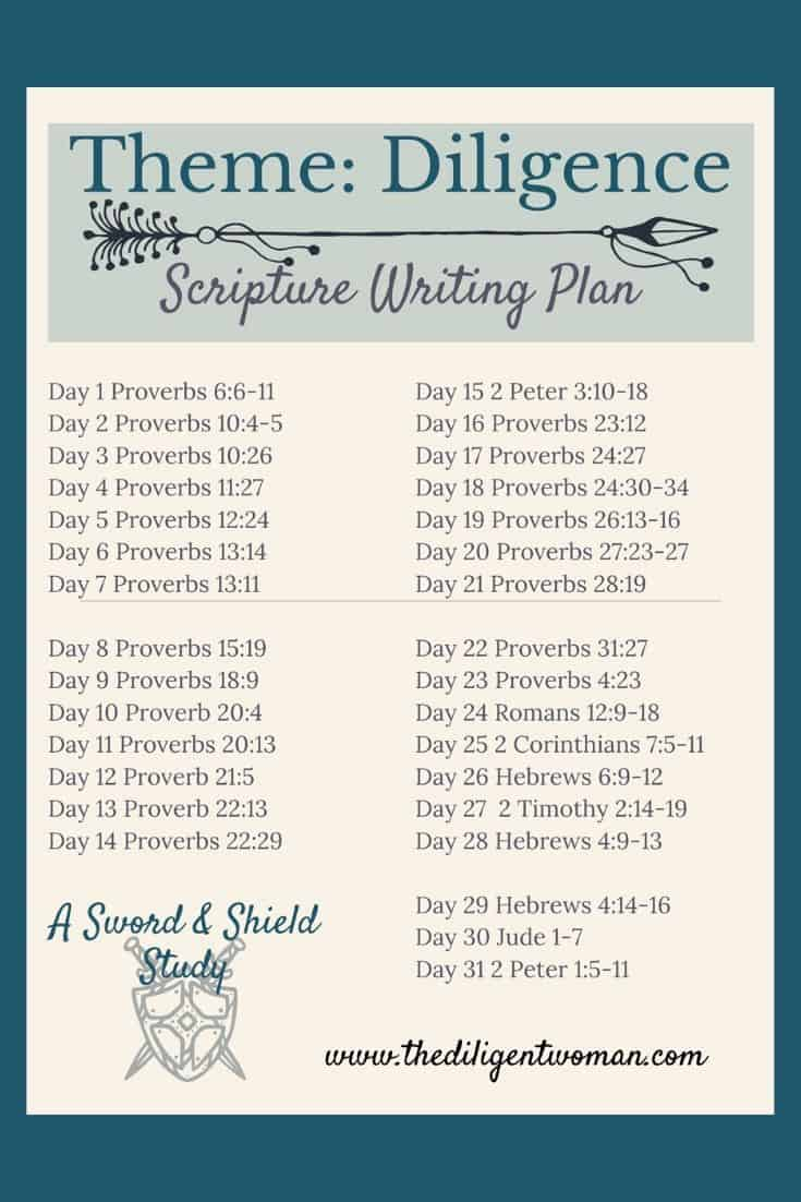 Ready to add a new Bible study method to your routine that only takes 10 minutes? Join The Diligent Woman in themed Scripture Writing this year. Read more to see the plan.