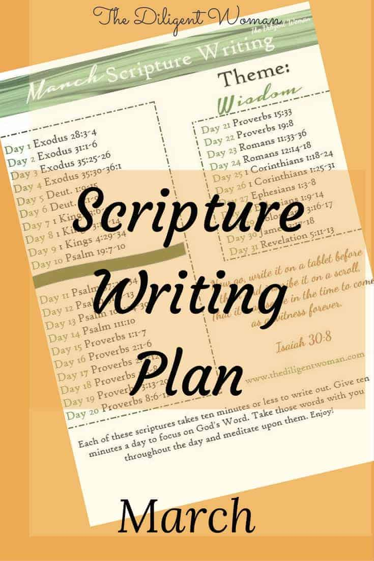 Scripture Writing Plan,