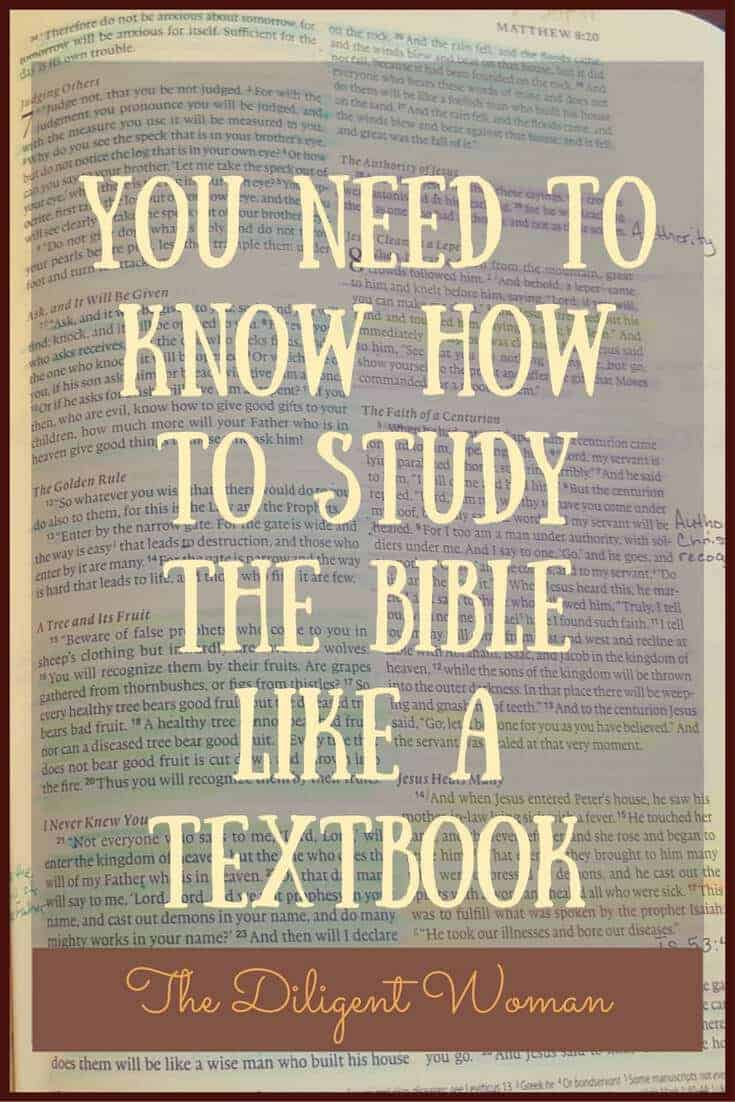 Study the Bible Like a Textbook