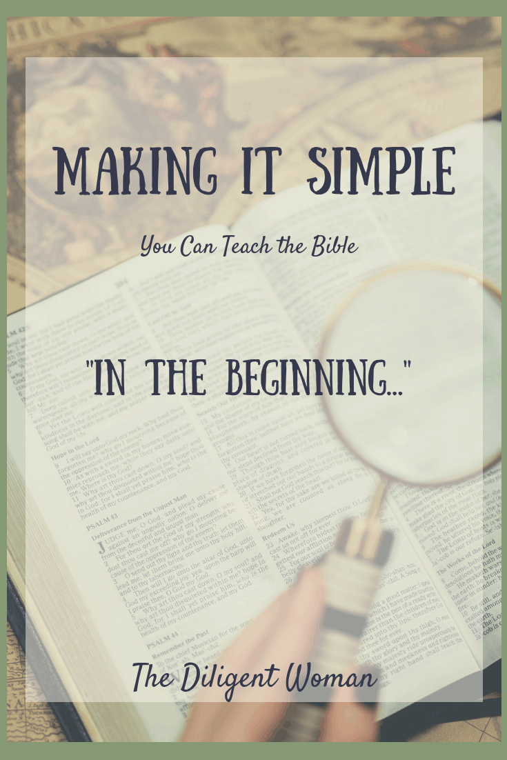In the beginning is an easy to use outline for teaching creation to any age group.