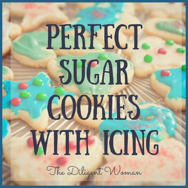 Perfect Sugar Cookies with Icing