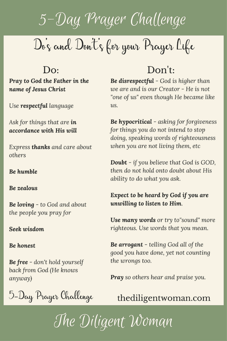 Teach us to Pray   New Year Edition 5-Day Prayer Challenge   How to pray