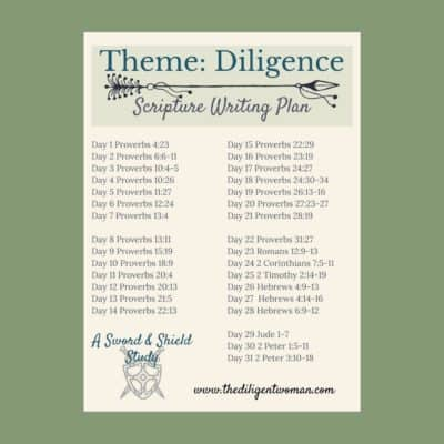 Scripture Writing Plan – Diligence #2