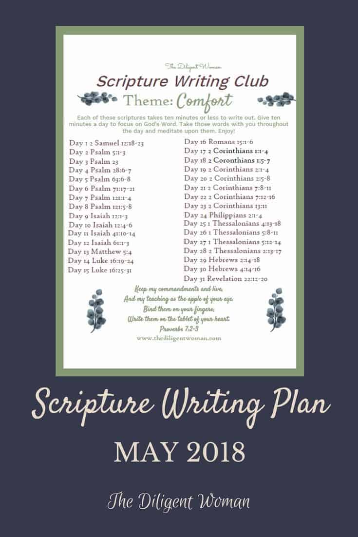 Finding comfort can be difficult when times are hard. This month's scripture writing is full of verses about comfort and verses that bring comfort. Check it out and be comforted by God's Word!