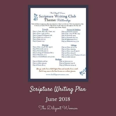 Scripture Writing Plan 2018 – Relationships