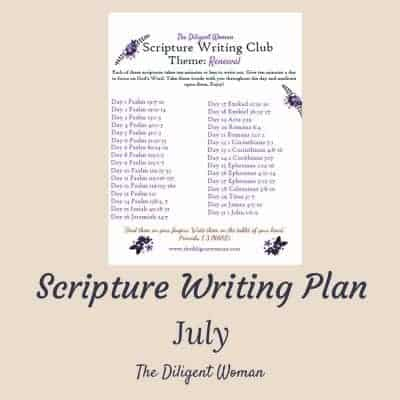 Scripture Writing Plan 2018 – Renewal
