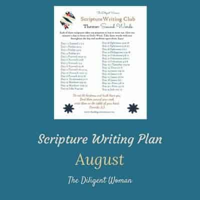 2018 Scripture Writing Plan – Theme: Sound Words
