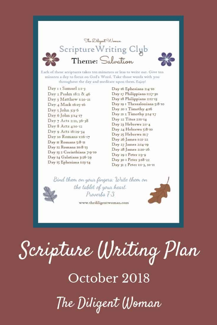 Scriptures about Salvation. How many do you think there are? Hint: The whole Bible is about Salvation! The Bible shows God's love in telling us the why and how about Salvation. Write daily about Salvation, with us. Click to get your plan today!