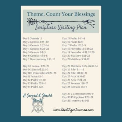 Scripture Writing Plan – Count Your Blessings