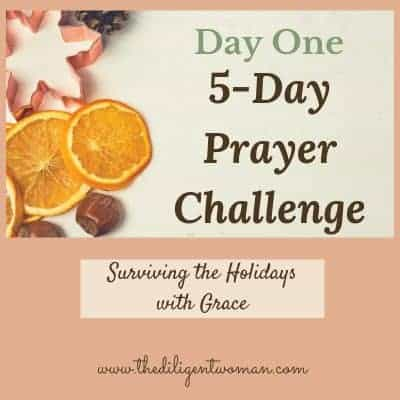5-Day Prayer Challenge – Holiday Edition – Day One – Gratitude