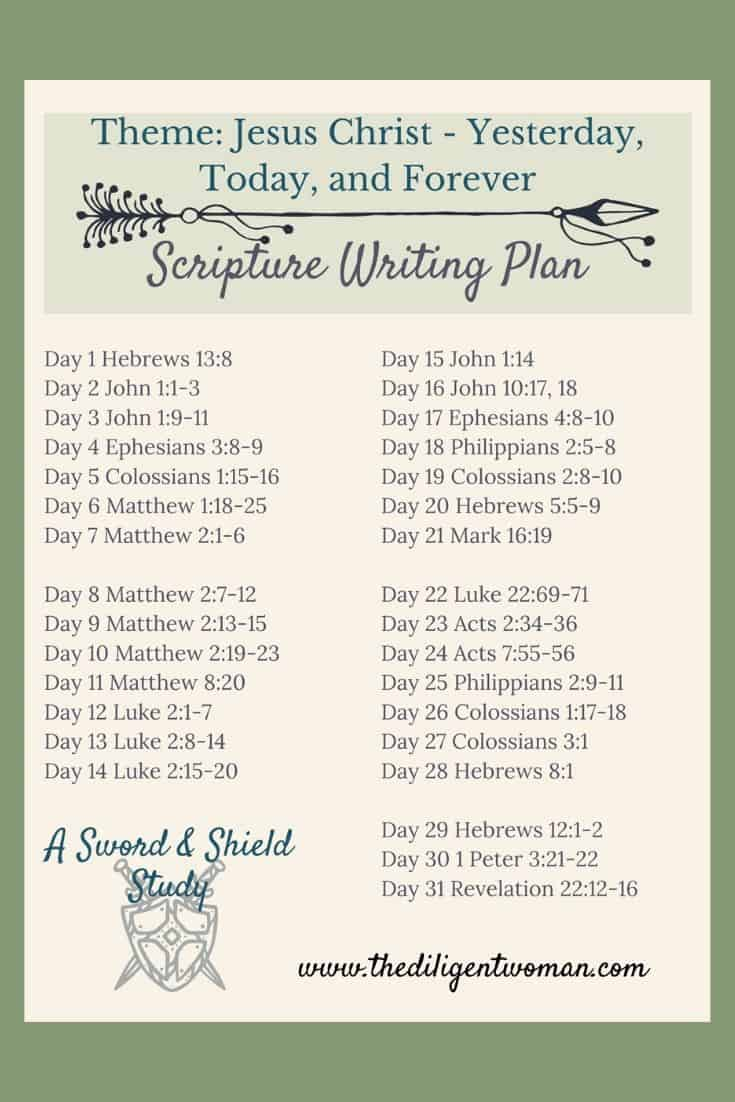 Join us in scripture writing about Jesus Christ: Yesterday, Today, and Forever. The next 31 days will be filled reminding us of WHO Jesus is. Jesus as Creator, Servant, and King - these make for a powerful 31 days of writing. Are you ready?