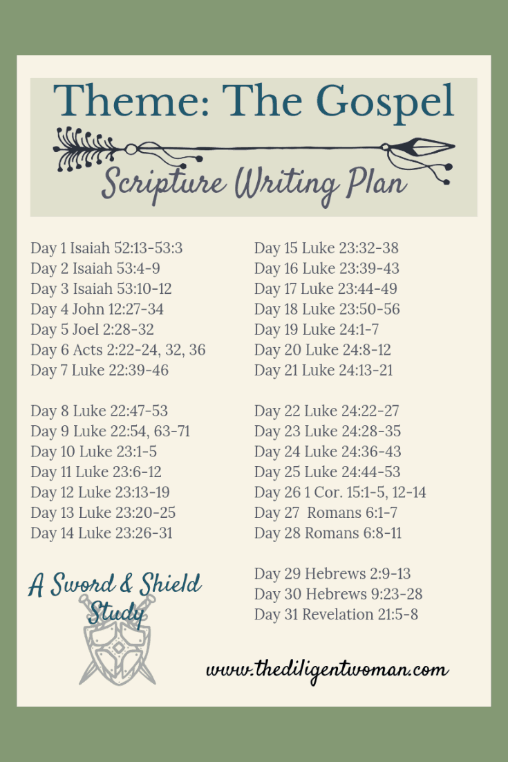 The Gospel can be a simple AND complex subject. Join us for 31 days of writing the SIMPLE side of The Gospel, by focusing on the hinge that holds it all together - the death, burial, and resurrection of Jesus Christ. Come write scriptures that teach The Gospel with us!
