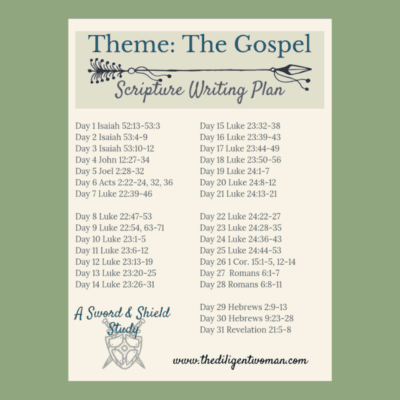 2019 Scripture Writing – Theme: The Gospel