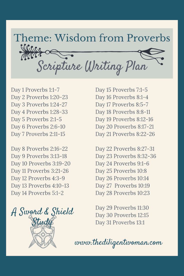 Looking for Scriptures from Proverbs about Wisdom? Look no further! This Scripture Writing Plan puts a treasure trove of knowledge about God's wisdom, right in your hands. Click and download your copy to join us on the journey!