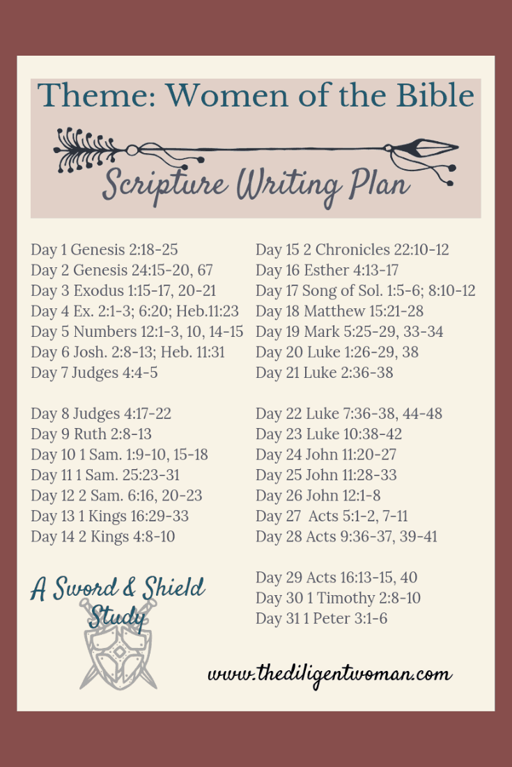 Studying the Women of the Bible is a wonderful way to learn how to be a godly woman yourself! Join us for 31 days of learning from the women God chose to share with us in the scriptures.