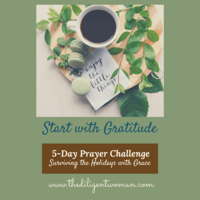 Gratitude – 5-Day Prayer Challenge – Holiday Edition – Day One