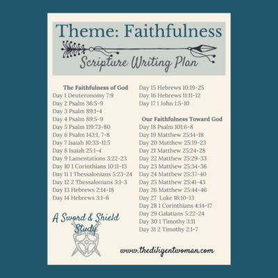 Scripture Writing Plan – Theme: Faithfulness