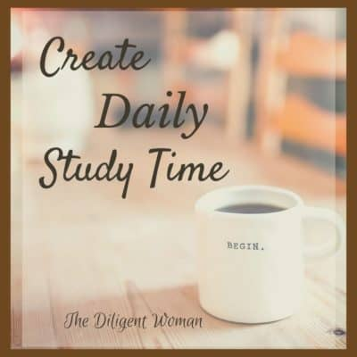 One Simple Way to Create Daily Study Time